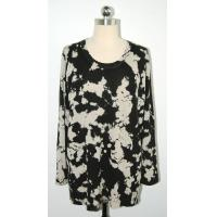 Anti Shrink Floral Print Sweater Comfortable Pullover Big Flower Printing Manufactures