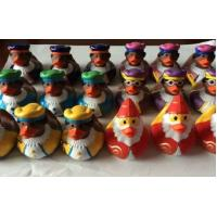 Indoor Christmas Decorations Weighted Rubber Ducks Bath Toy 5cm Length Manufactures