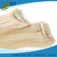 Buy cheap Double Hair Blonde Hair Clips Remy 7A 8A 9A Human Hair Clips Extended Hair Clips from wholesalers