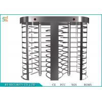 Quality Double Lanes Rotating Full Height Turnstiles Turnstyle Gates CE Approved for sale