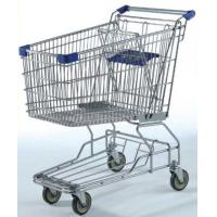 China Large Capacity Grocery Shopping Carts , 180L Wire 4 Wheeled Shopping Trolley on sale