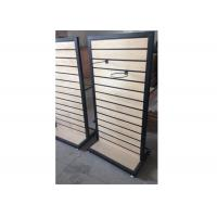 Metal Frame Slatwall Display Stand Two Sides 1200 * 450 * 1380MM Multi - Funcutional Manufactures