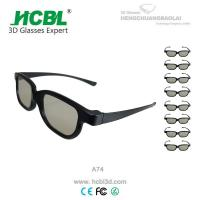 Eco - Freindly Real D 3D Glasses Circularly Polarized Logo Printed Manufactures