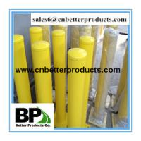 China 1.2m height Removable traffic steel bollards with powder coated yellow on sale