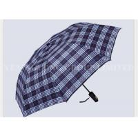 Indestructible Adult Casual 2 Fold Umbrella Gold Silk Waterproof England Gird Pattern Manufactures