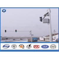 6m Crossroad traffic light post Joint with insert mode , outdoor light pole longspan life Manufactures
