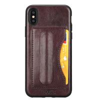 Quality Idools leather  for iphone X  iphone 10  back cover  one card slot  support stand holder PC TPU soft leather case for sale