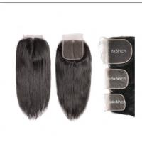 4X4 5x5 6x6 Straight Cambodian Virgin Hair Lace Closure Natural Color Manufactures