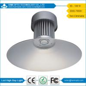 100W AC90 - 295V Bridgelux LED PC reflector LED High Bay Light For Warehouses Manufactures