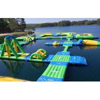 Durable Inflatable Water Playground / Sport Games With Water Long Ramp For Outdoor Manufactures