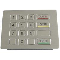 OEM / ODM Vandal Proof Panel Mount Metal Keypad With 16 Button  RS232 , RS485 Available Manufactures