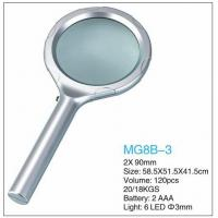 Dome Handheld LED Pocket Magnifying Glass 2x Power Eco Friendly Plastic Manufactures