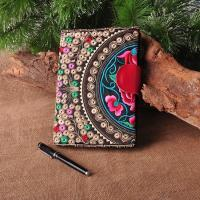 Buy cheap Customize Embroidered Logo Notebooks with leather snap closure as best souvenir from wholesalers