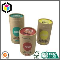 Color Printing Kraft Paper Tubes; Luxury Custom Cosmetics Brown Kraft Tube Manufactures