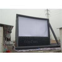 Fundraising / Entertainment Outdoor Inflatable Projection Screen PVC Tarpaulin Durable Manufactures