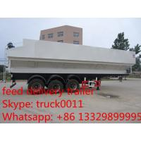 2017s hot sale 40m3-50m3 farm-oriented feed transported semitrailer, best price livestock animal feed pellet semitrailer Manufactures
