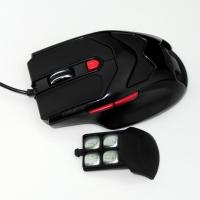 China Black HUANYU Switch USB Wired Gaming Mouse , high dpi mouse 600 1000 1600 on sale