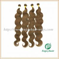 Indian virgin hair weave hair extension 8# color body wave hair 10''-26'' hair extension Manufactures