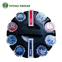 Round Corner 200 Pcs Beautiful Poker Chips Plastic / Clay / Ceramic Poker Chips Set Manufactures