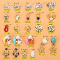 Hot NEW Wholesale Alloy Jewelry 3D Nail Art Jewelry Nail rhinestones Sticker Supplier Number ML2695-2718 Manufactures