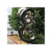 Spiral Contemporary Garden Decoration Stainless Steel Mirror Sculpture Manufactures