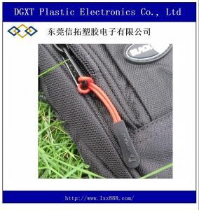 Wholesale slip-resistant black silicon zipper puller for apparel luggage bag sportwear Manufactures