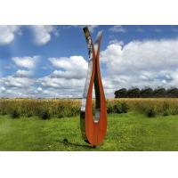 Outdoor Modern Corten and Stainless Steel Sculpture Abstract Style Manufactures