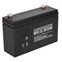 6volt 12AH Rechargeable Sealed Lead Acid Battery Maintenance free for Security System Manufactures