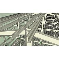 Quality Prefabricated Light Workshop Steel Structure For 4 Storey Dormitory for sale