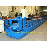 ISO / CE Approved Metal Ridge Cap Tile Roll Forming Machine Production Line High Speed Manufactures