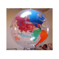 Clear Inflatable Earth Globe Inflating Helium Balloons For Festival Manufactures
