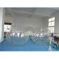 Customized 1.0 Mm PVC / TPU Clear Inflatable Bubble Ball For Swimming Pool Manufactures