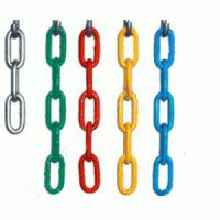Welded Industrial Link Chain , G80 Long Overhead Lifting Chain Alloy Steel Material Manufactures
