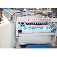 Quality Double Layer Roll Forming Machine , Metal Roofing Corrugated Steel Sheet Wall for sale