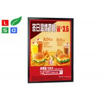 Black Colored LED Snap Frame Light Box Single Sided LED Clip Frame For Menu Poster Display Manufactures
