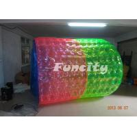 Giant 6 Foot PVC / TPU Inflatable Water Roller For Amusement Park Manufactures