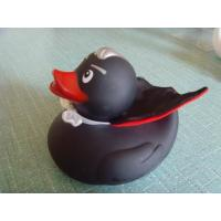 Quality Toys Retail Superhero Rubber Ducks , Black Cool Rubber Duck For Promotion Gift for sale
