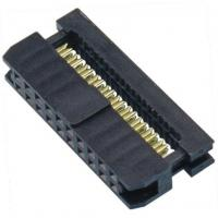 WCON 2.54mm 2*10P Idc Socket PBT Black Connector Terminal One Side Contact Manufactures