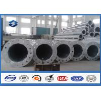 Conical / Round 10M swaged type Steel Tubular Pole For 110kv Power Distribution Line Manufactures