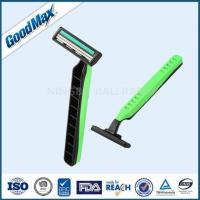 Green / Black Twin Blade Disposable Razor Anti - Drag Blades For Face Body Underarm Manufactures