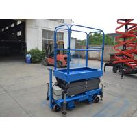 Blue Push Motorcycle Scissor Lift  Platform 3 Meter High / 500Kg Loading Manufactures