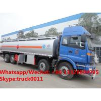 Quality FOTON AUMAN 8*4 LHD 30,000Liters fuel tank delivery truck for sale, HOT SALE for sale