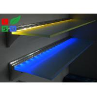 Wall Mounting LED Flat Panel Light Ultra Slim 8mm Store Display Glass Shelf Light Manufactures