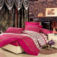 Colorful Full Size 5 Piece Polyester Bed Set Embroidered Printed Plain Dyed Manufactures