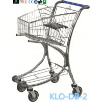 Chrome Plated Low Carbon Steel Airport Luggage Trolley Cart With Baby Seat 40L Manufactures