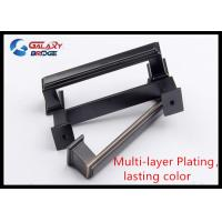 Quality 128mm American Stylish Plating Kitchen Cabinet Handles 96mm Black Arched Dresser for sale