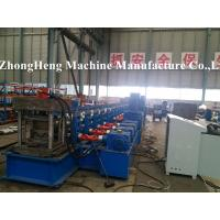 W Profile Guardrail Roll Forming Machine with gearbox drive stations and prepunching device Manufactures