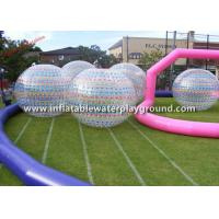 Sports Game Inflatable Zorb Ball Walk In Plastic Bubble Ball , Human Sized Manufactures