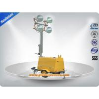 LED 9m Portable Trailer  Mobile Light Tower Diesel Generator  with Hand Push Manufactures