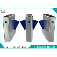 Metro Used Automatic Turnstiles Bi-deretion Stainless Steel Flap Gate For Access Manufactures